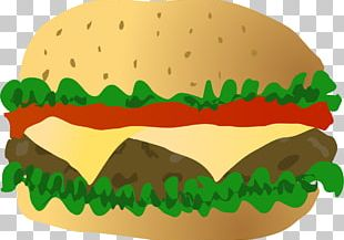 Cheeseburger Hamburger Fast Food Bun PNG