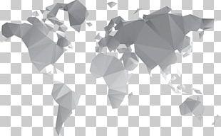 Globe World Map Flat Design PNG