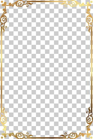 Frame Golden Frame Rectangle PNG