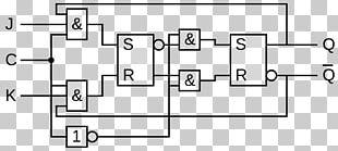 JK Flip-flop Przerzutnik Typu JK-MS Equivalent Circuit Digital Timing Diagram PNG