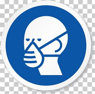 Respirator Sign Personal Protective Equipment Dust Mask Hazard PNG