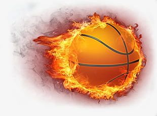 Basketball Fire Burning Sports Icon PNG