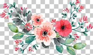 Wedding Invitation Flower Watercolor Painting PNG