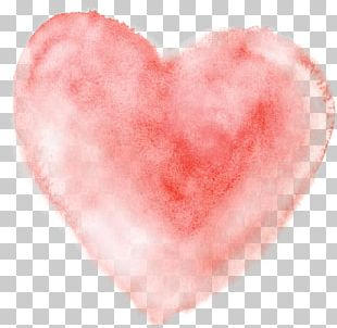 Watercolor Painting Heart PNG
