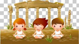 Yoga Child Cartoon PNG