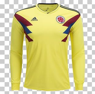 Colombia National Football Team T-shirt 2018 FIFA World Cup Sleeve Jersey PNG