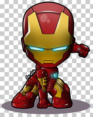 Iron Man Chibi Superhero Marvel Comics PNG