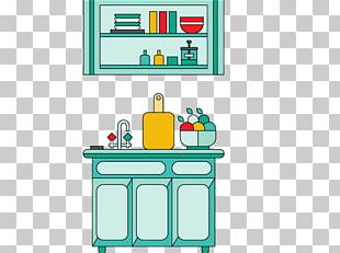 Kitchen Flat Design Illustration PNG