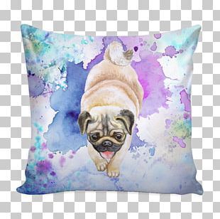 Pug Puppy Dog Breed Throw Pillows PNG