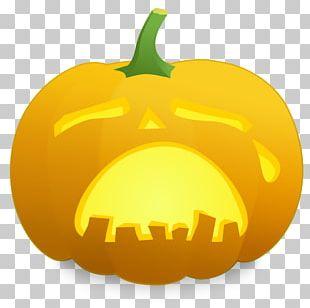 Jack-o'-lantern Sadness Carving PNG