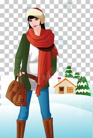 Euclidean Female Winter Woman PNG
