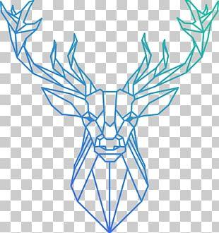 Reindeer Polygon Geometry PNG