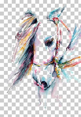 Horse Watercolor Painting Art White PNG