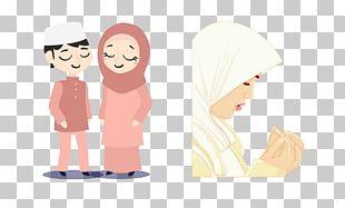 Muslim Girl Islam Illustration PNG
