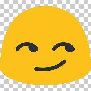 Smirk Smiley Android Emoji Emoticon PNG
