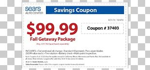 Coupon Discounts And Allowances Sears Code Customer Service PNG