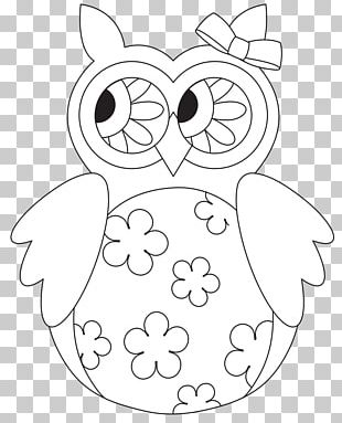 Little Owl Drawing Painting Coloring Book PNG