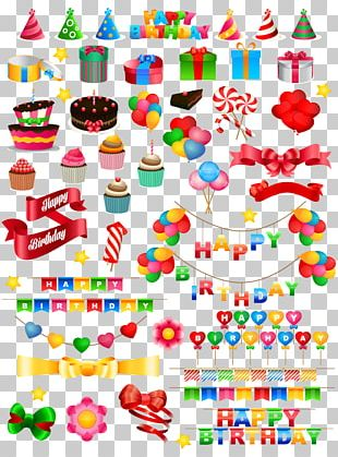 Birthday Cake Gift Party PNG