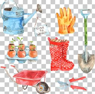 Watercolor Painting Gardening Garden Tool Illustration PNG