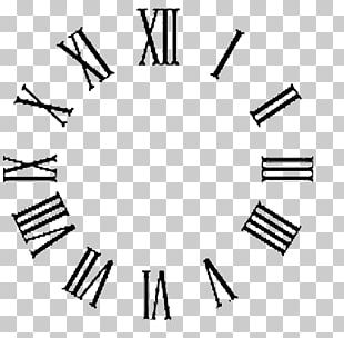 Clock Face Roman Numerals Wall Decal PNG