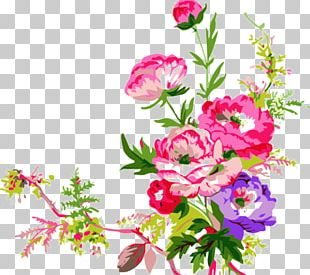 Colored Pencil Watercolor Painting Flower PNG
