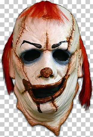 Evil Clown It Mask Halloween Costume PNG