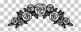 Black Rose Black And White PNG
