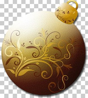 Borders And Frames Santa Claus Gold Christmas Ornament PNG