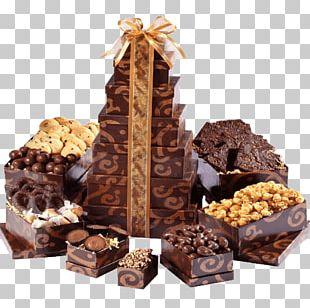 Chocolate Brownie Food Gift Baskets Christmas PNG