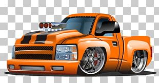 Pickup Truck Cartoon Illustration PNG