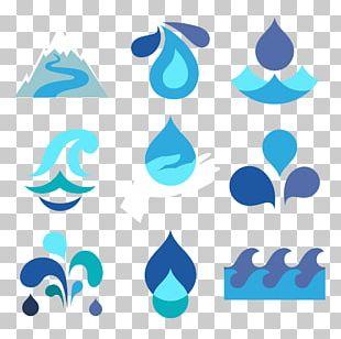 Drop Water Flat Design PNG