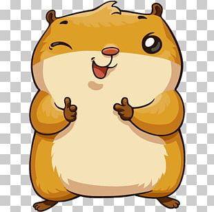 Sticker Telegram Hamster Наклейка VKontakte PNG