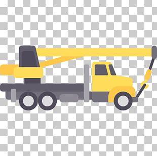 Motor Vehicle Car Slewing Mobile Crane PNG