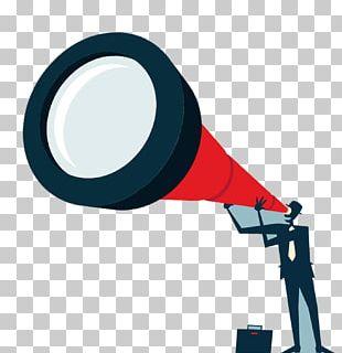 Telescope Businessperson Icon PNG