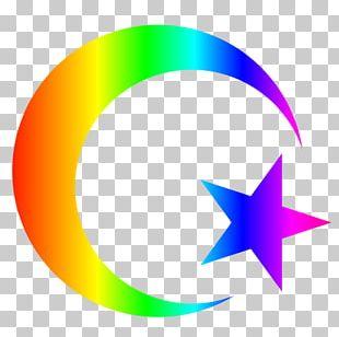 Symbols Of Islam Quran Star And Crescent PNG