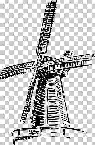Windmill Drawing PNG