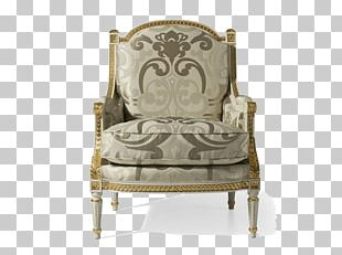 Wing Chair Couch Furniture Louis XVI Style Leather PNG