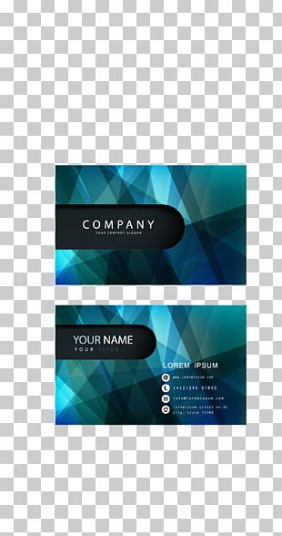 Business Card Design Advertising PNG