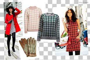Tartan Fashion Polka Dot Coat Sleeve PNG