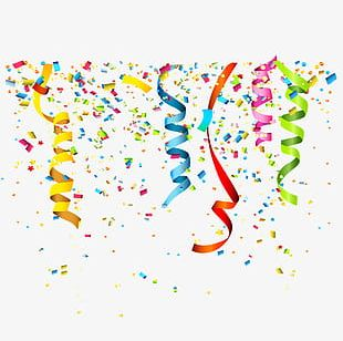 Confetti Streamers PNG