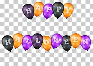 Halloween Balloon Party PNG