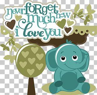 Elephants Love Open PNG