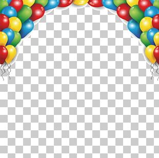 Birthday Greeting Card Balloon Poster Party PNG
