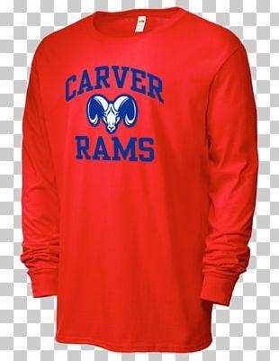 Long-sleeved T-shirt Frostburg State University Bobcats Football PNG