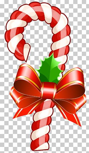 Candy Cane Christmas Stick Candy Ribbon Candy PNG