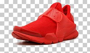 Red Nike Sock Shoe Sneakers PNG