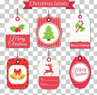 Hand-painted Christmas Tag PNG
