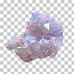 Metal-coated Crystal Quartz Crystal Cluster Amethyst PNG