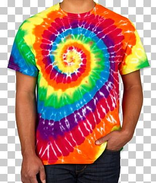 Printed T-shirt Tie-dye Pants PNG