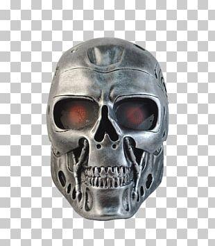 Terminator Mask Face Robot Halloween PNG